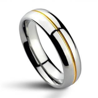 NWF1027-SL Pánský snubní prsten wolfram