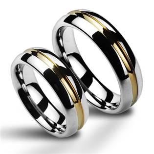 NWF1027 Wolframové snubní prsteny - pár
