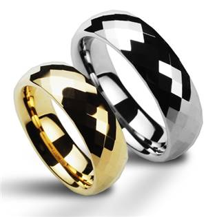NWF1033 Wolframové snubní prsteny - pár