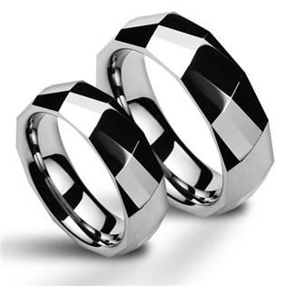 NWF1046 Wolframové snubní prsteny - pár