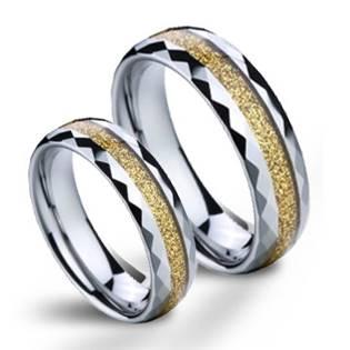 NWF1050 Wolframové snubní prsteny - pár