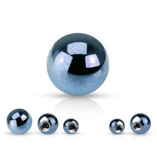 Ocelová náhradní kulička 1,2 x  3 mm, barva světle modrá