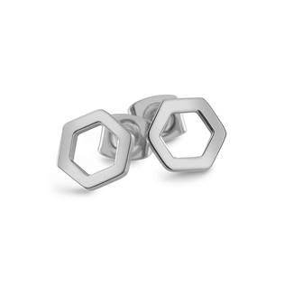 Ocelové geometrické náušnice
