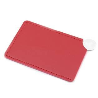 Ocelové kapesní zrcátko, červené pouzdro