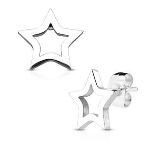 Ocelové náušnice - hvězdičky