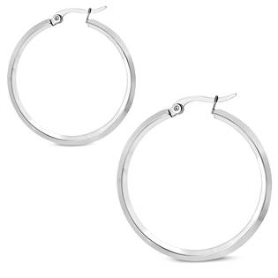 Ocelové náušnice - kruhy 37 mm
