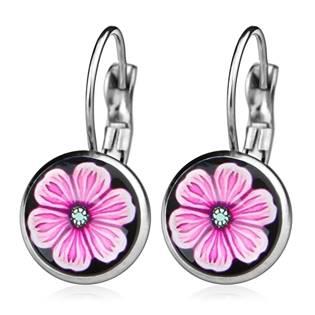 Ocelové náušnice - květina
