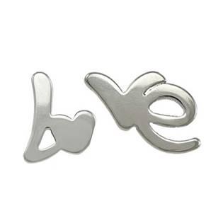 Ocelové náušnice LOVE