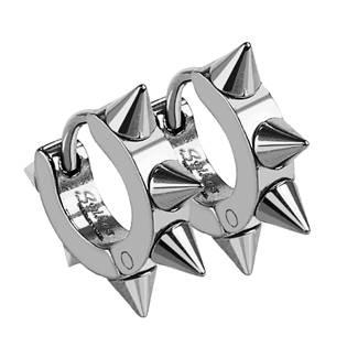 Ocelové náušnice s hroty