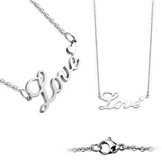 """Ocelový náhrdelník """"Love"""""""