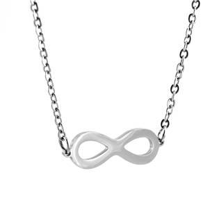 Ocelový náhrdelník nekonečno - infinity