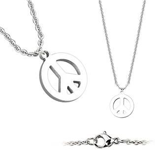 Ocelový náhrdelník peace