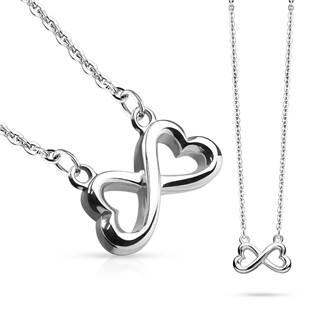 Ocelový náhrdelník s nekonečnem