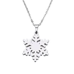Ocelový náhrdelník sněhová vločka