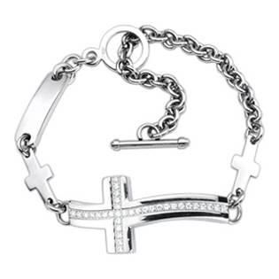 Ocelový náramek - kříž