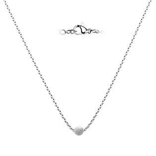 Ocelový opálový náhrdelník - kulička 5 mm