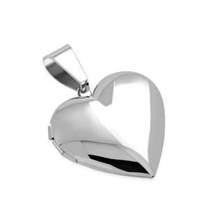 Ocelový přívěšek - medailon otevírací srdce
