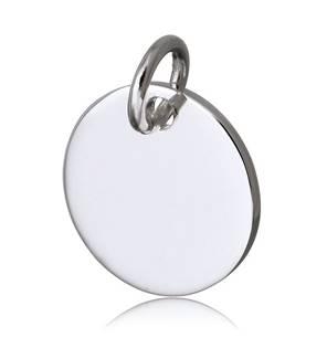 Ocelový přívěšek kolečko, 15 mm