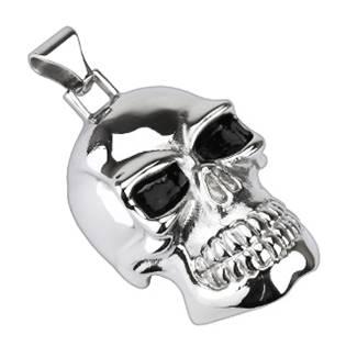 Ocelový přívěšek motorkářský - lebka