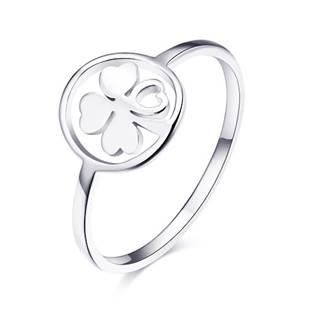 Ocelový prsten čtyřlístek
