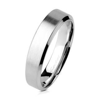 Ocelový prsten matný, šíře 4 mm