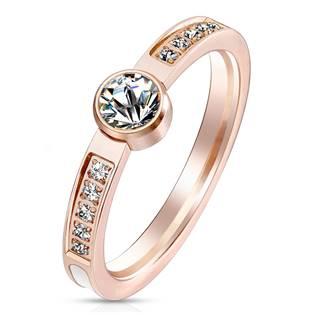 Ocelový prsten s perletí