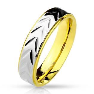 Ocelový prsten šíře 5 mm