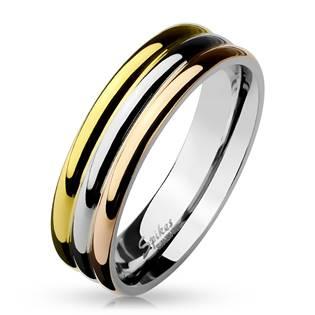 Ocelový prsten, šíře 6 mm