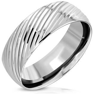 Ocelový prsten, šíře 8 mm