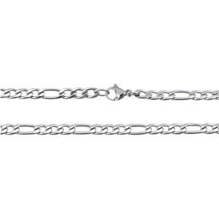 Ocelový řetízek figaro, tl. 3 mm, délka 45 cm