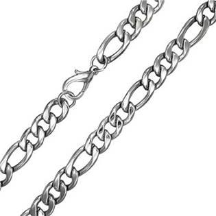 Ocelový řetízek figaro, tl. 6 mm