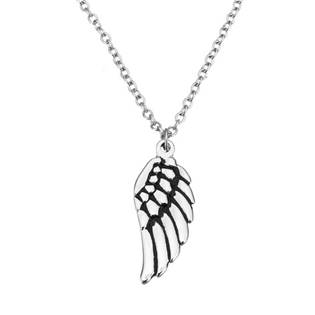 Ocelový řetízek s přívěškem - andělské křídlo