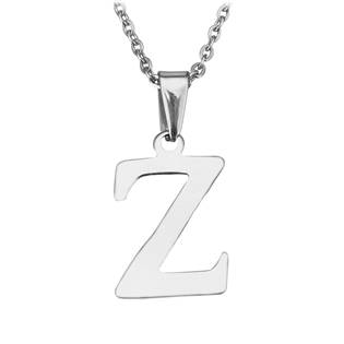 """Ocelový řetízek s přívěškem iniciála """"Z"""""""