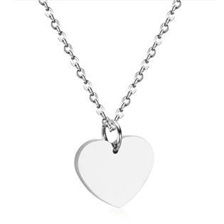 Ocelový řetízek s přívěškem srdce