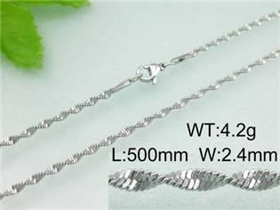 Ocelový řetízek, tl. 2,4 mm, délka 50 cm