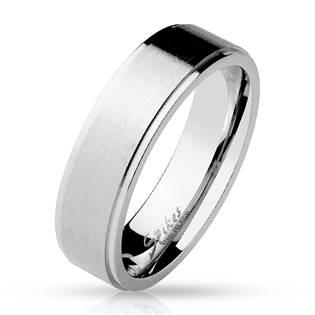 OPR0014 Dámský ocelový snubní prsten
