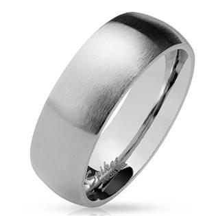 OPR0028 Ocelový prsten matný, šíře 8 mm