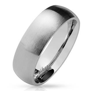 OPR0028 Pánský prsten matný, šíře 6 mm
