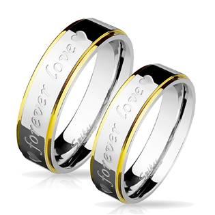 OPR0029 Ocelové snubní prsteny - pár