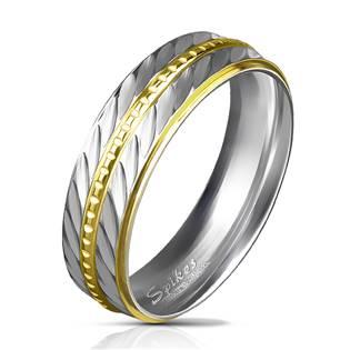 OPR0030 Dámský snubní prsten šíře 6 mm