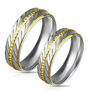 OPR0030 Ocelové snubní prsteny - pár