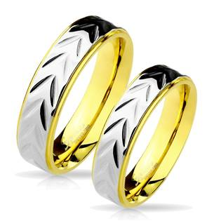 OPR0031 Ocelové snubní prsteny - pár