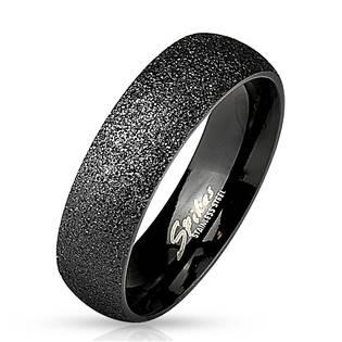 OPR0032 Pánský černý snubní prsten šíře 6 mm