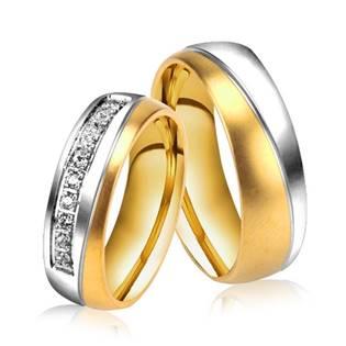 OPR0033 Ocelové snubní prsteny - pár