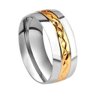 OPR0034 Pánský ocelový prsten, šíře 8 mm