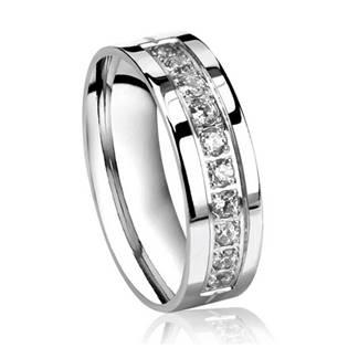 OPR0035 Dámský ocelový prsten, šíře 6 mm