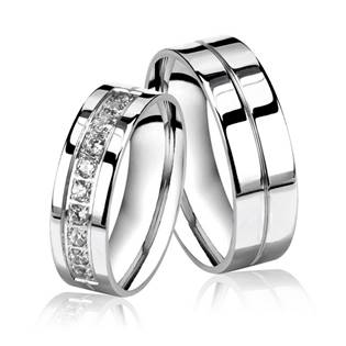 OPR0035 Ocelové snubní prsteny - pár