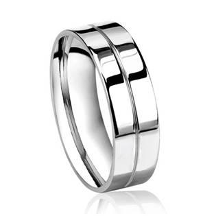 OPR0035 Pánský ocelový prsten, šíře 8 mm