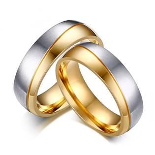 OPR0036 Ocelové snubní prsteny - pár