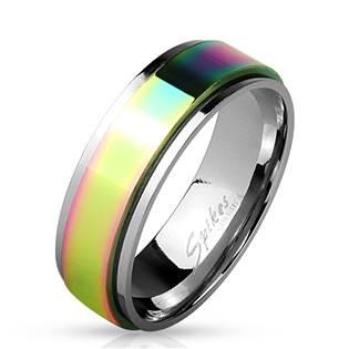 OPR0037 Dámský rotační ocelový prsten, šíře 6 mm